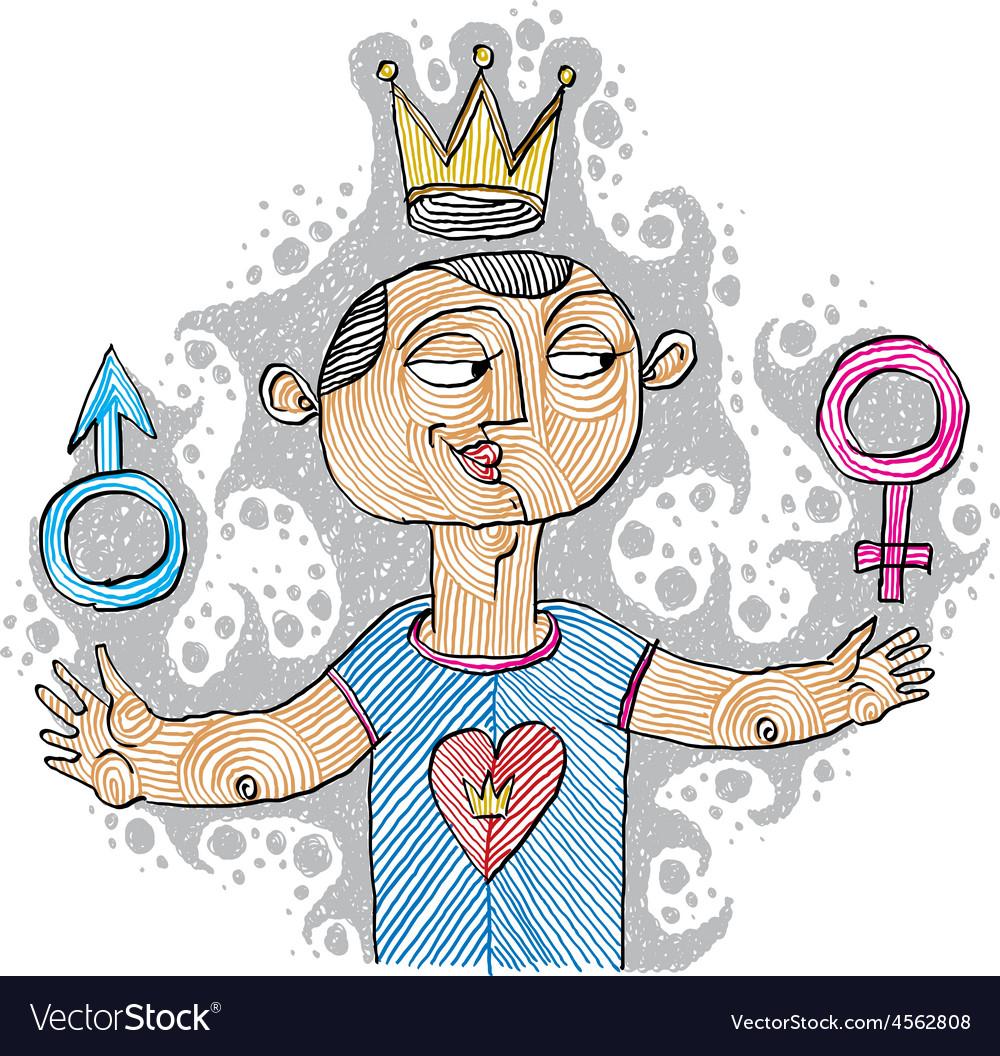 Alpha male concept bisexual idea simple ha vector | Price: 1 Credit (USD $1)