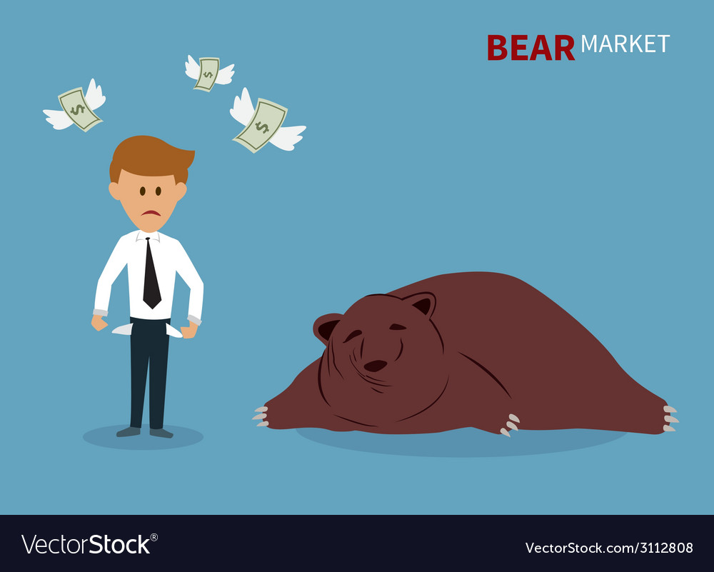 Bear treading on the stock market vector | Price: 1 Credit (USD $1)