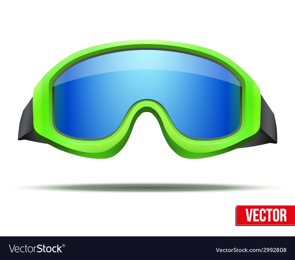 Classic green snowboard ski goggles with blue vector | Price: 1 Credit (USD $1)