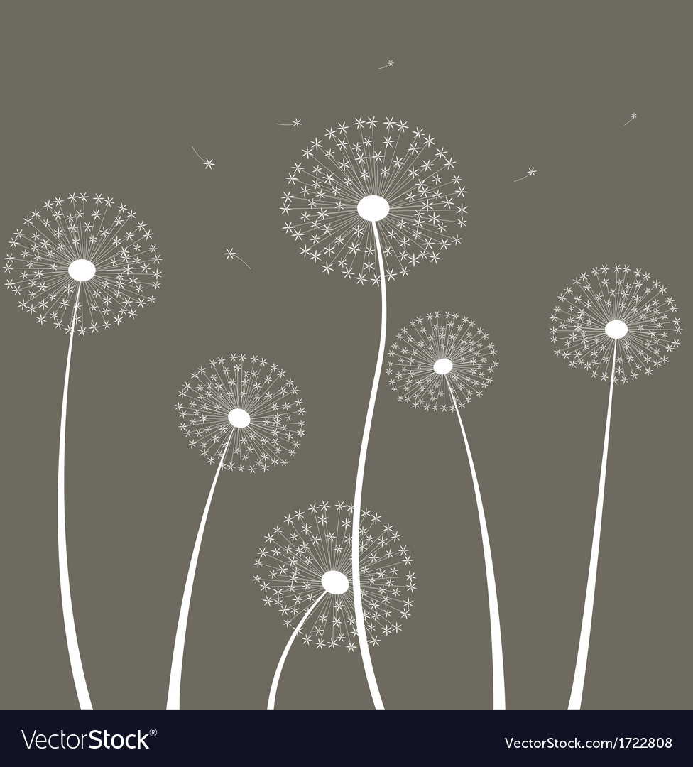 Decoration with dandelion vector | Price: 1 Credit (USD $1)