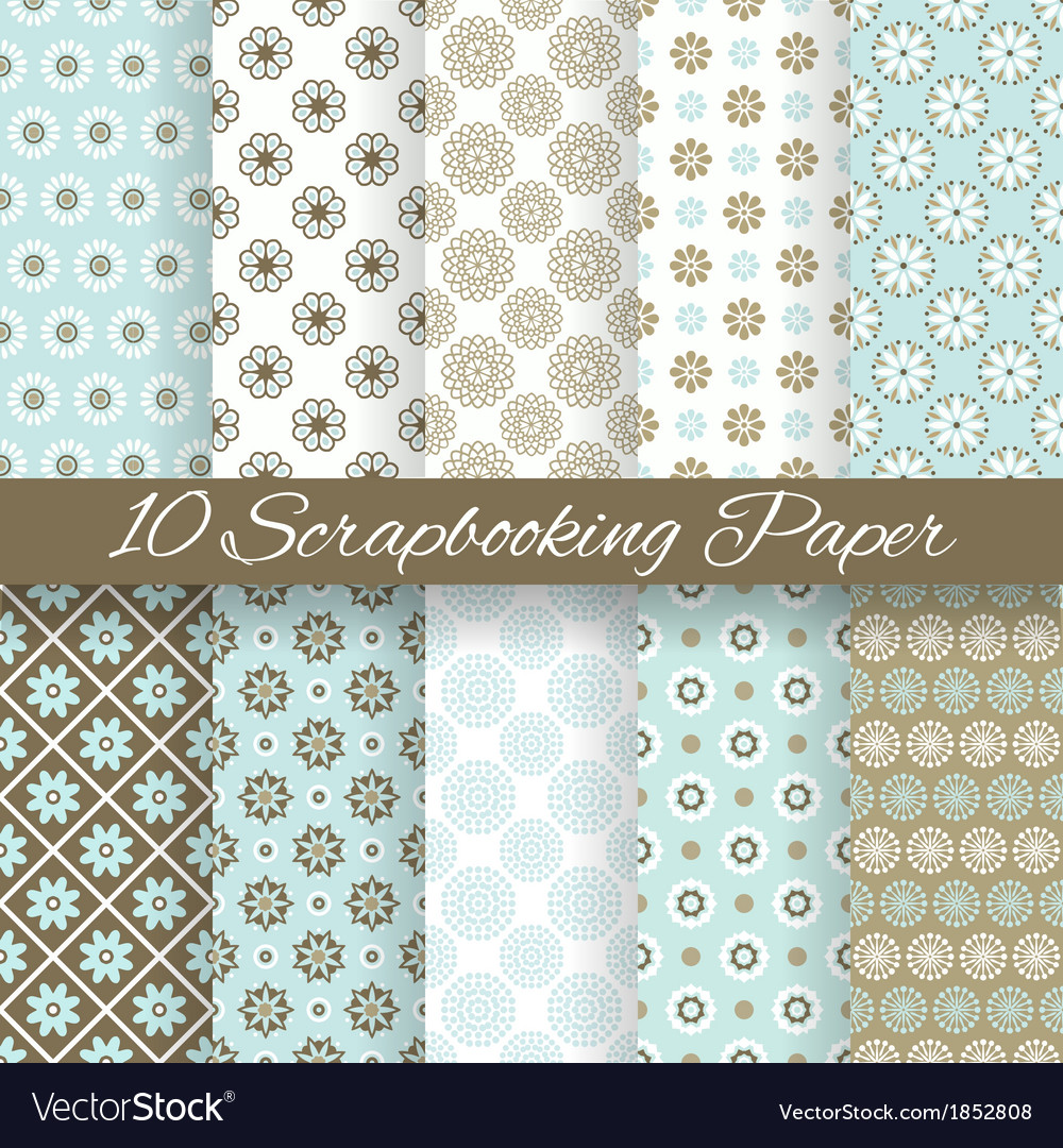 Pattern papers for scrapbook tiling vector | Price: 1 Credit (USD $1)