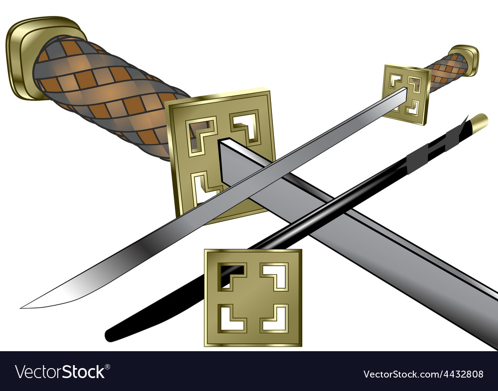 Samurai weapon vector | Price: 1 Credit (USD $1)