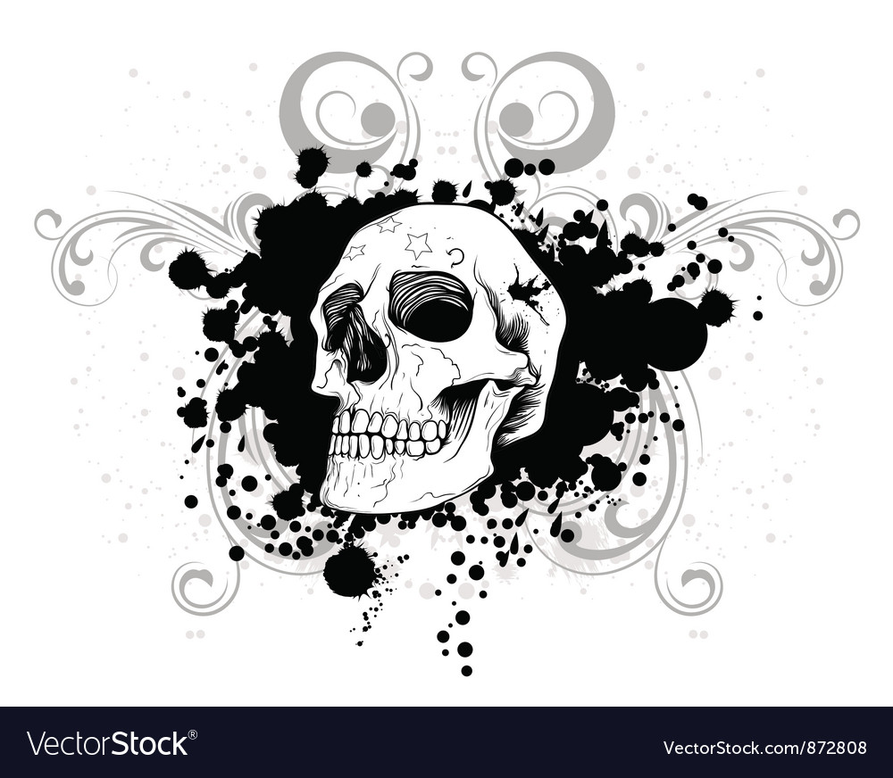 Skull tshirt design vector | Price: 1 Credit (USD $1)