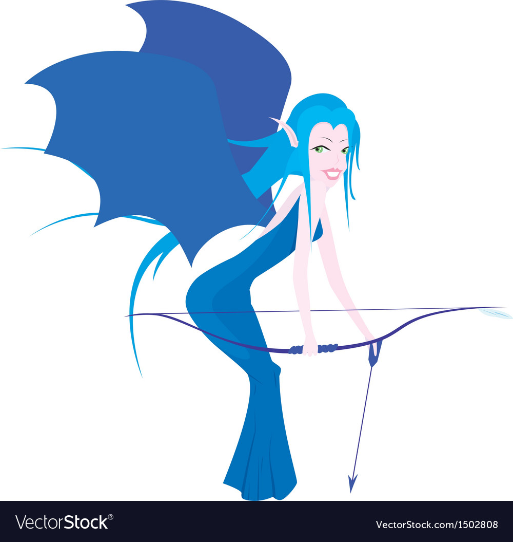 Winged archer vector | Price: 1 Credit (USD $1)