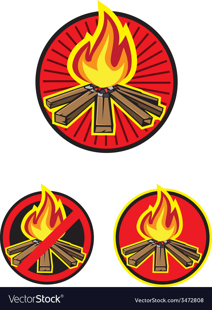 Wood fire vector | Price: 1 Credit (USD $1)