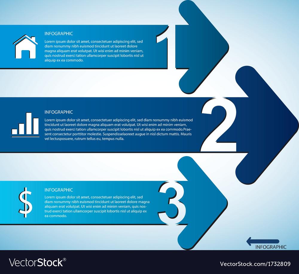 Arrow infographic vector | Price: 1 Credit (USD $1)