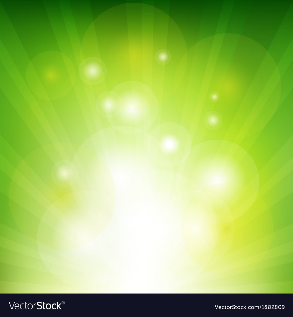 Green background with beams vector | Price: 1 Credit (USD $1)