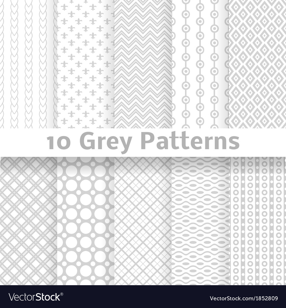 Grey seamless patterns tiling vector   Price: 1 Credit (USD $1)
