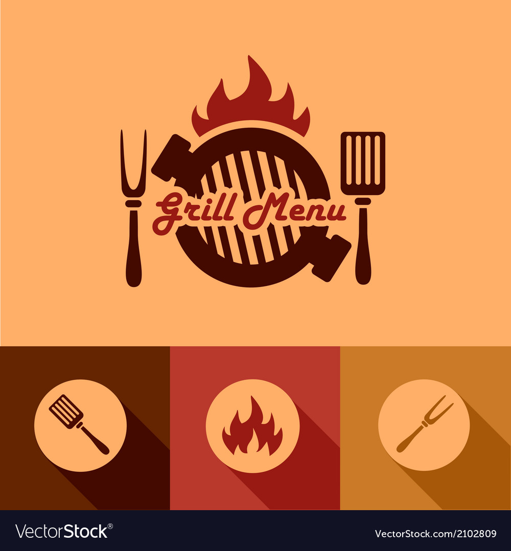 Grill menu design elements vector | Price: 1 Credit (USD $1)