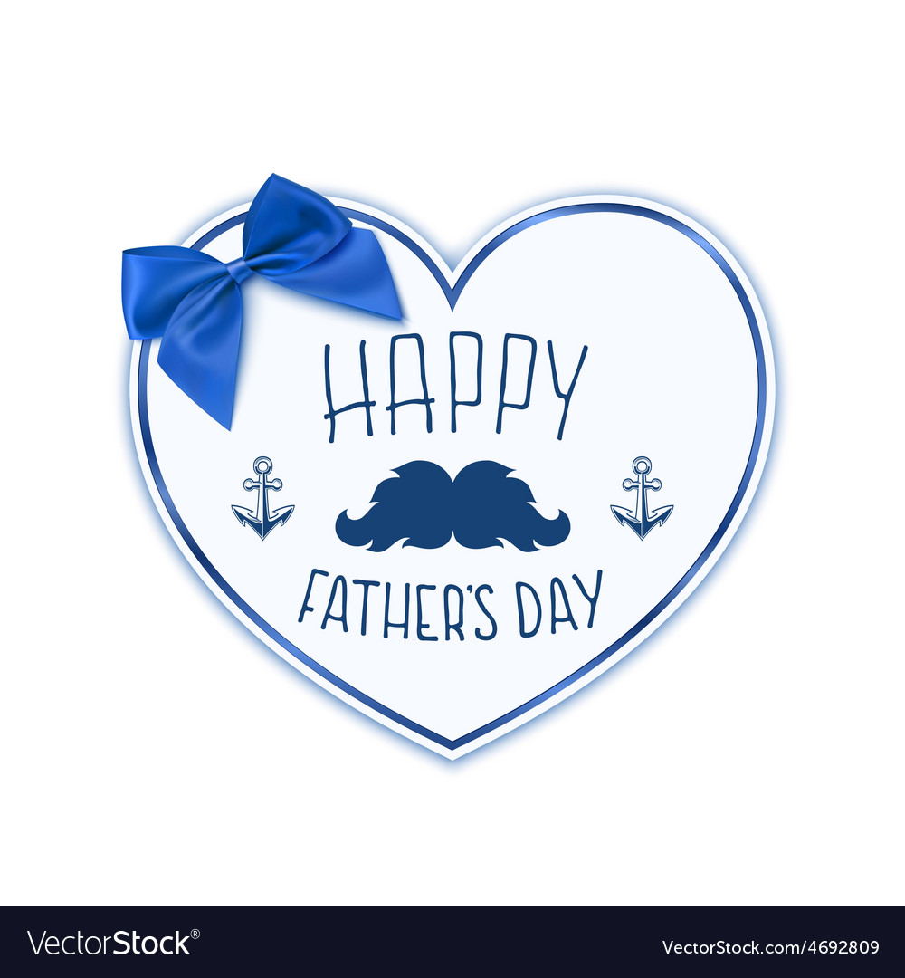 Happy fathers day background with paper heart vector | Price: 1 Credit (USD $1)