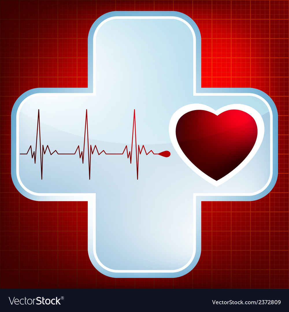 Heart and heartbeat symbol eps 8 vector | Price: 1 Credit (USD $1)