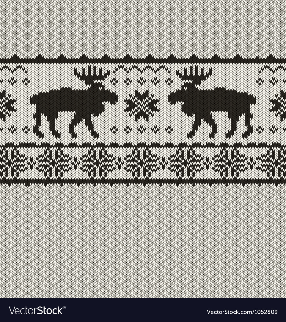 Knitted background with christmas deers and vector | Price: 1 Credit (USD $1)