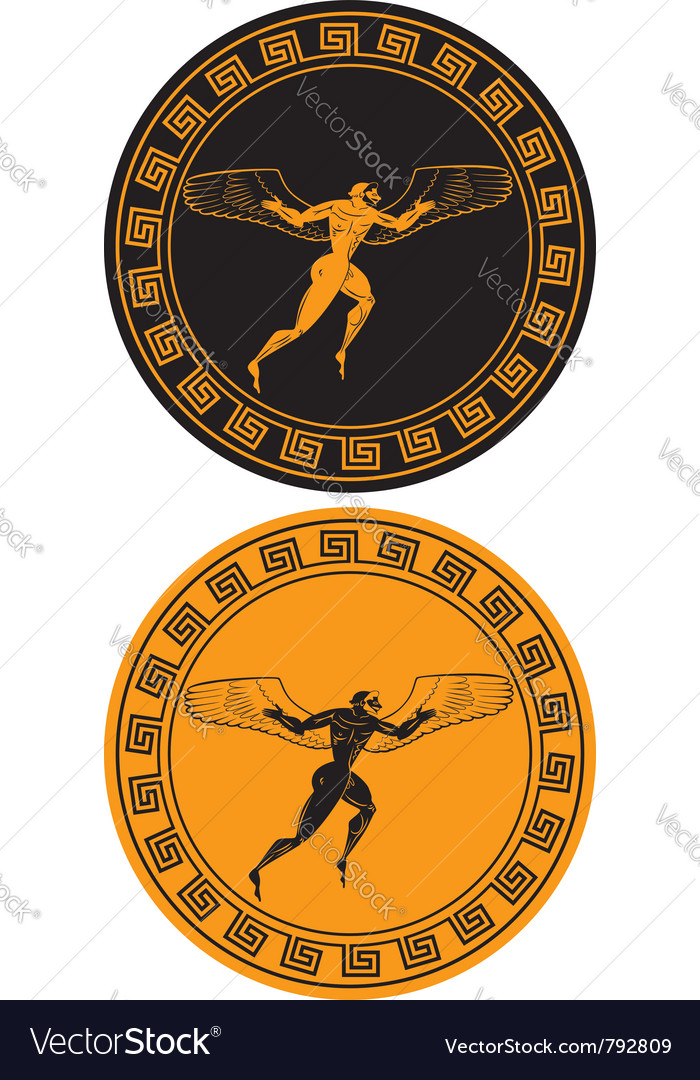 The mythical character icarus vector | Price: 1 Credit (USD $1)