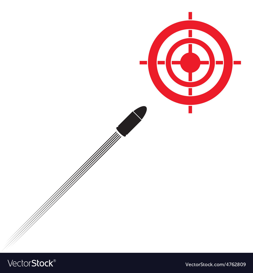 Target and flying bullet vector | Price: 1 Credit (USD $1)
