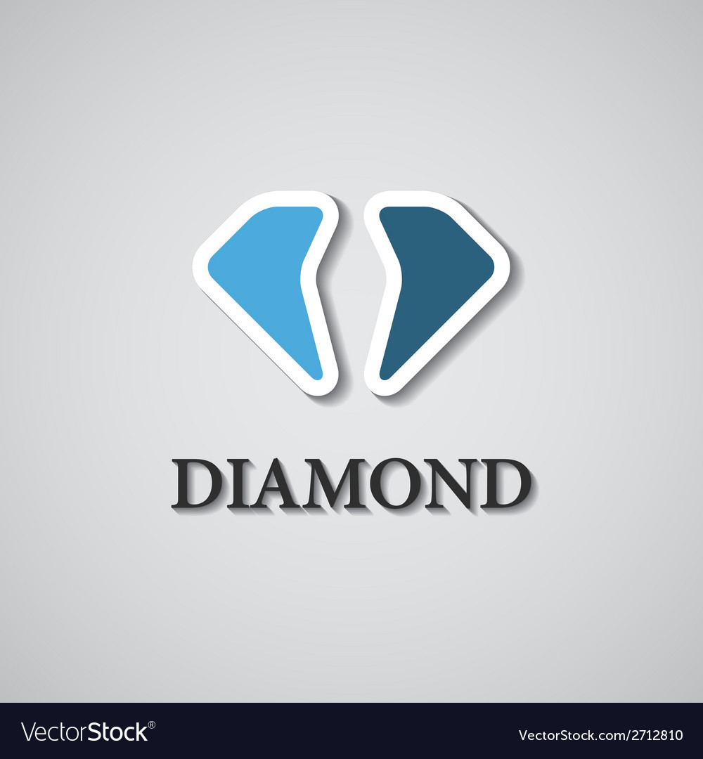 Abstract stylized diamond icon vector | Price: 1 Credit (USD $1)