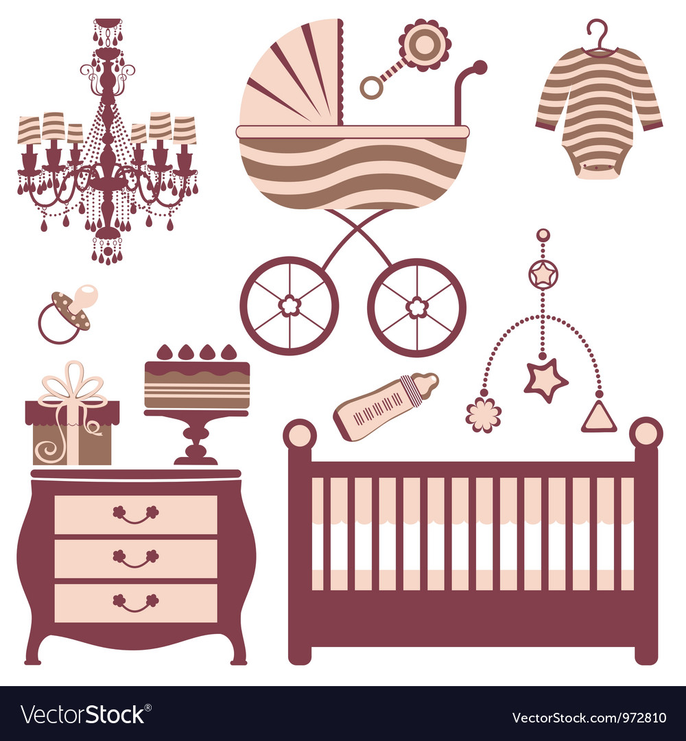 Baby shower collection vector | Price: 1 Credit (USD $1)