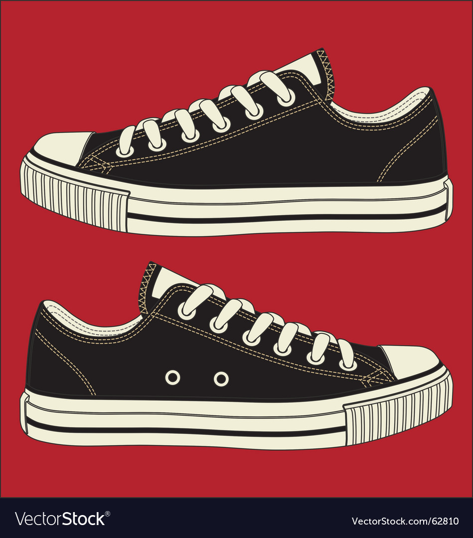 Canvas shoes vector | Price: 1 Credit (USD $1)