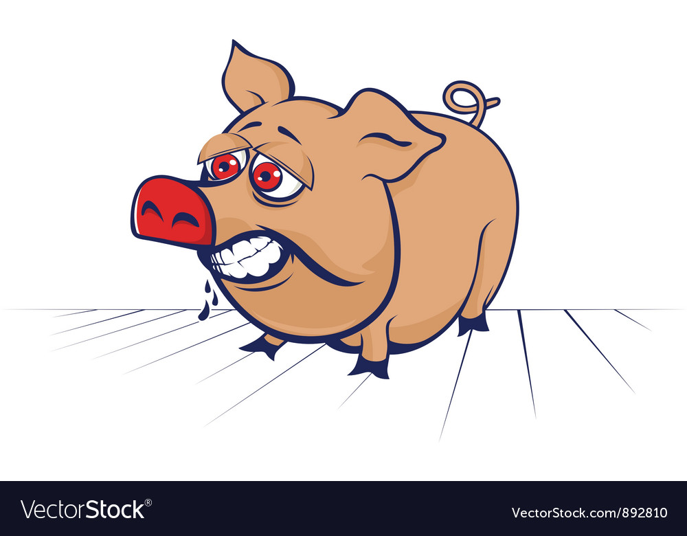 Cartoon evil pig vector | Price: 3 Credit (USD $3)