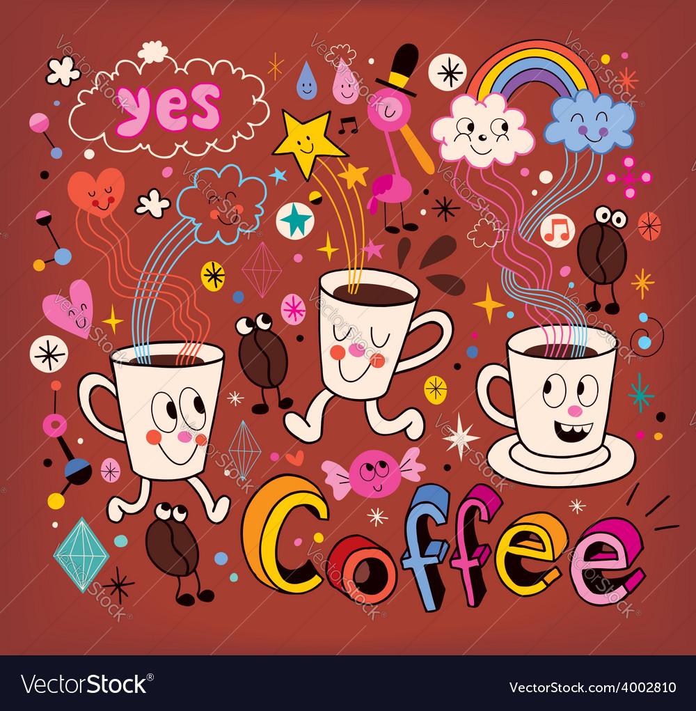 Coffee cartoon vector   Price: 1 Credit (USD $1)