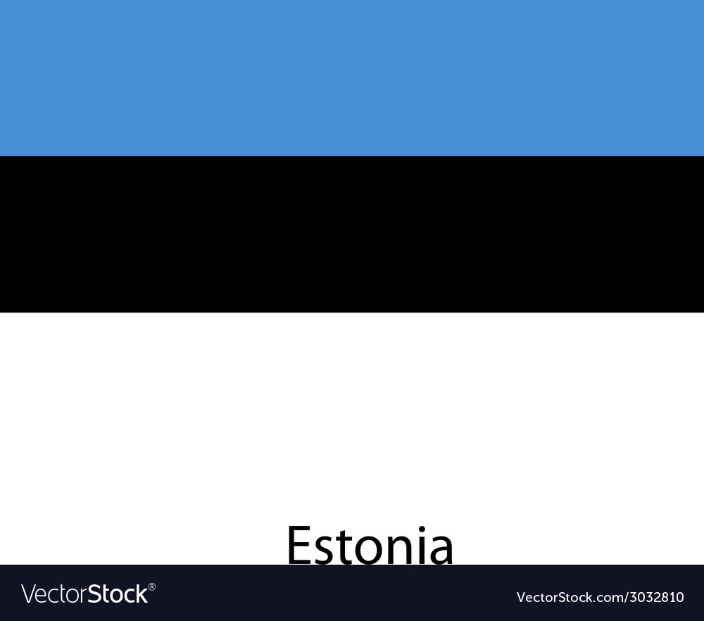 Flag of the country estonia vector | Price: 1 Credit (USD $1)