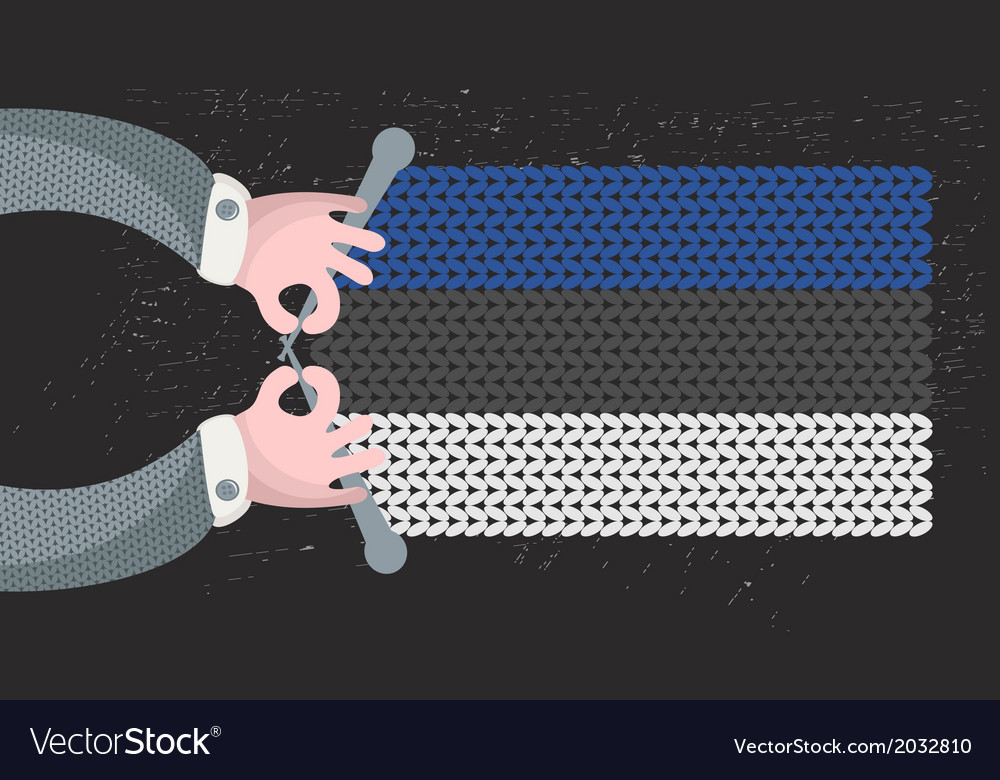 Hand made flag of estonia vector | Price: 1 Credit (USD $1)
