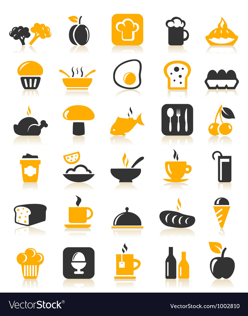 Meal food icons vector | Price: 1 Credit (USD $1)