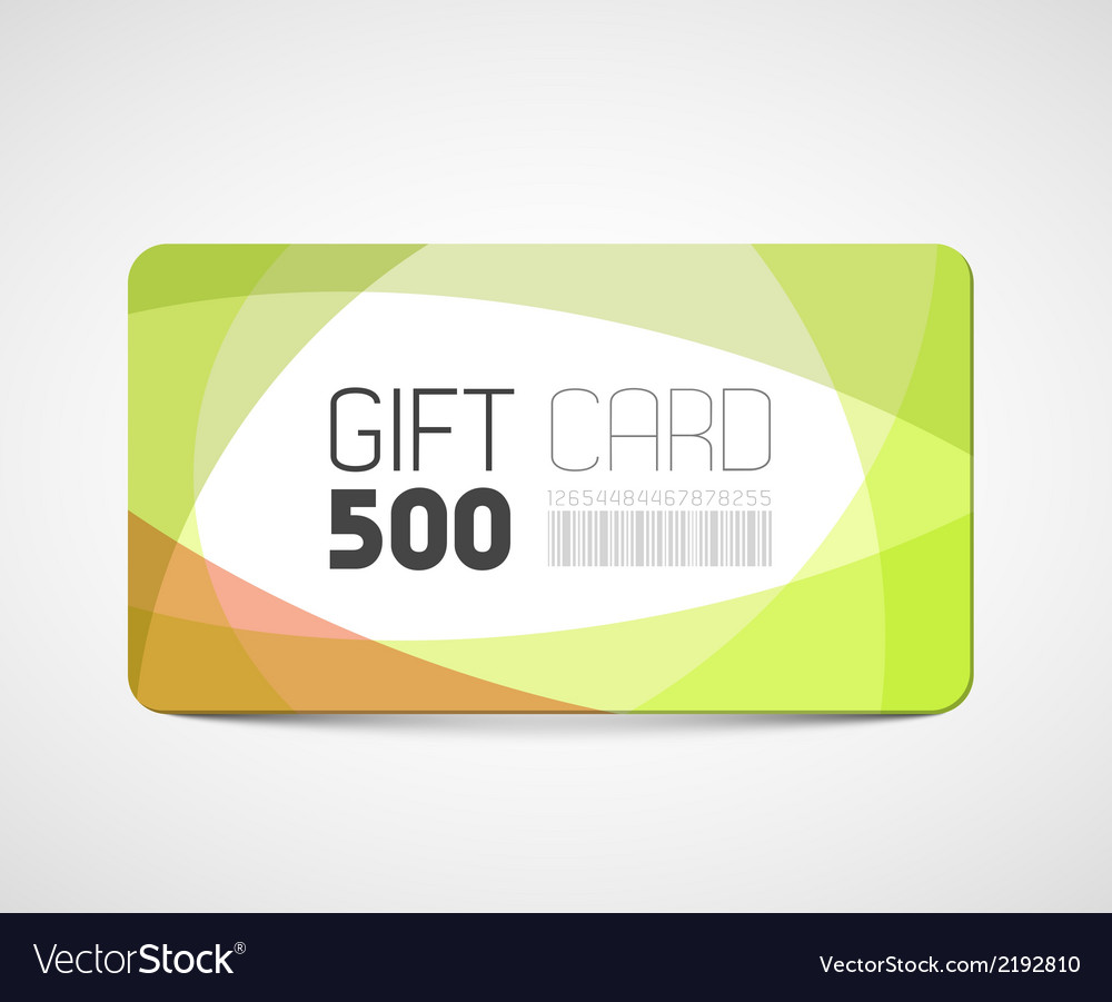 Modern gift card template vector | Price: 1 Credit (USD $1)
