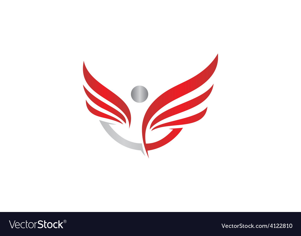 People success wing fly logo vector | Price: 1 Credit (USD $1)