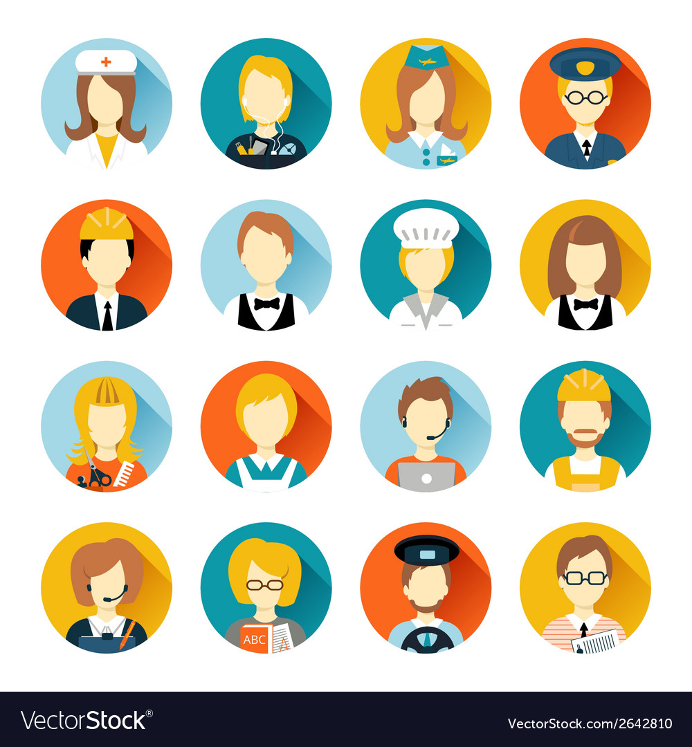 Profession avatar on circles vector | Price: 3 Credit (USD $3)