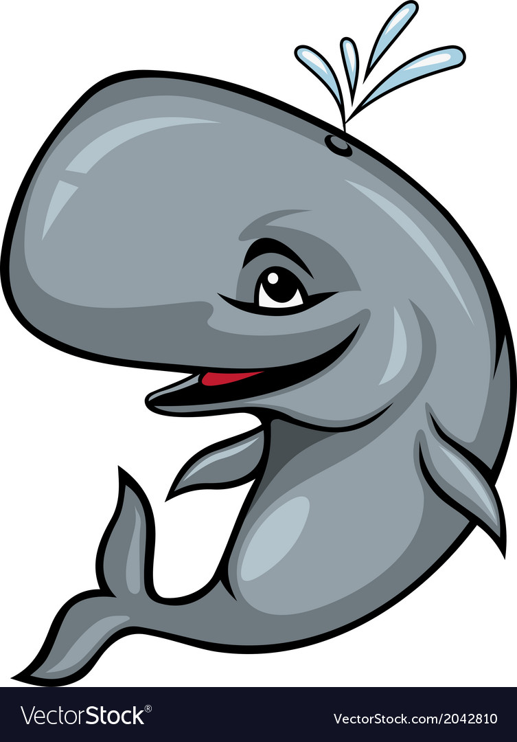 Smiling sperm whale vector | Price: 1 Credit (USD $1)
