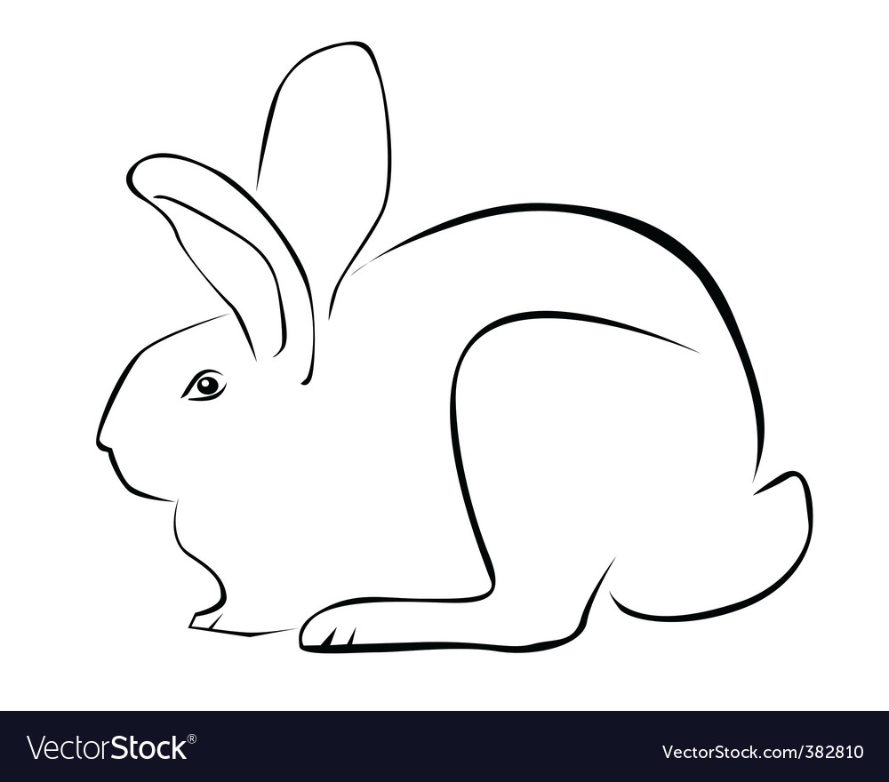 Tracing of a rabbit vector | Price: 1 Credit (USD $1)