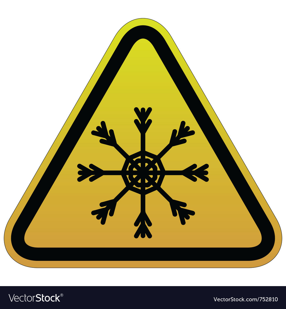 Warning sign of snow vector | Price: 1 Credit (USD $1)