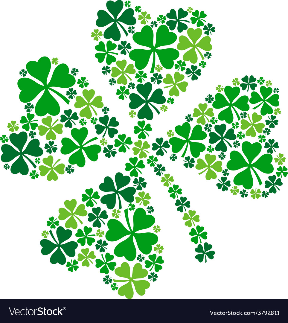 4 leaf clover lucky clover for st patricks day vector | Price: 1 Credit (USD $1)