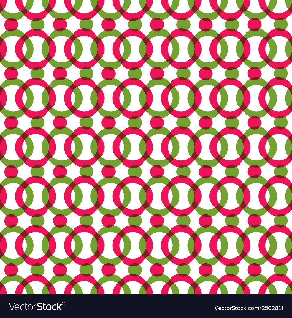 Bright dotted seamless pattern with red and green vector | Price: 1 Credit (USD $1)