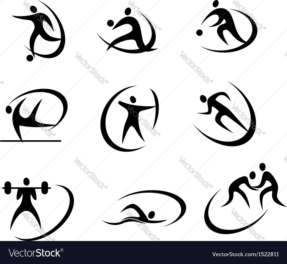 Different kinds of sports symbols vector | Price: 1 Credit (USD $1)