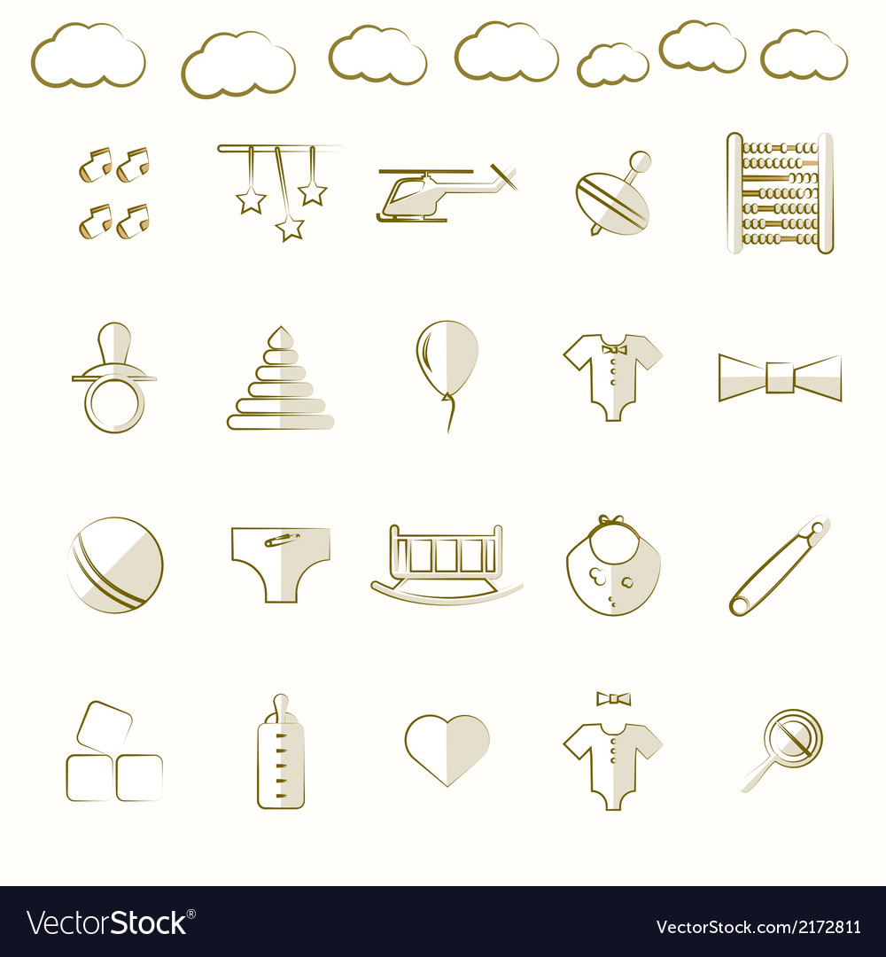 Icons for children toys vector | Price: 1 Credit (USD $1)