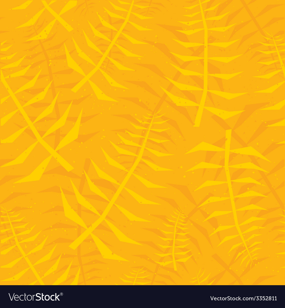 Jungle leaf seamless yellow pattern vector | Price: 1 Credit (USD $1)