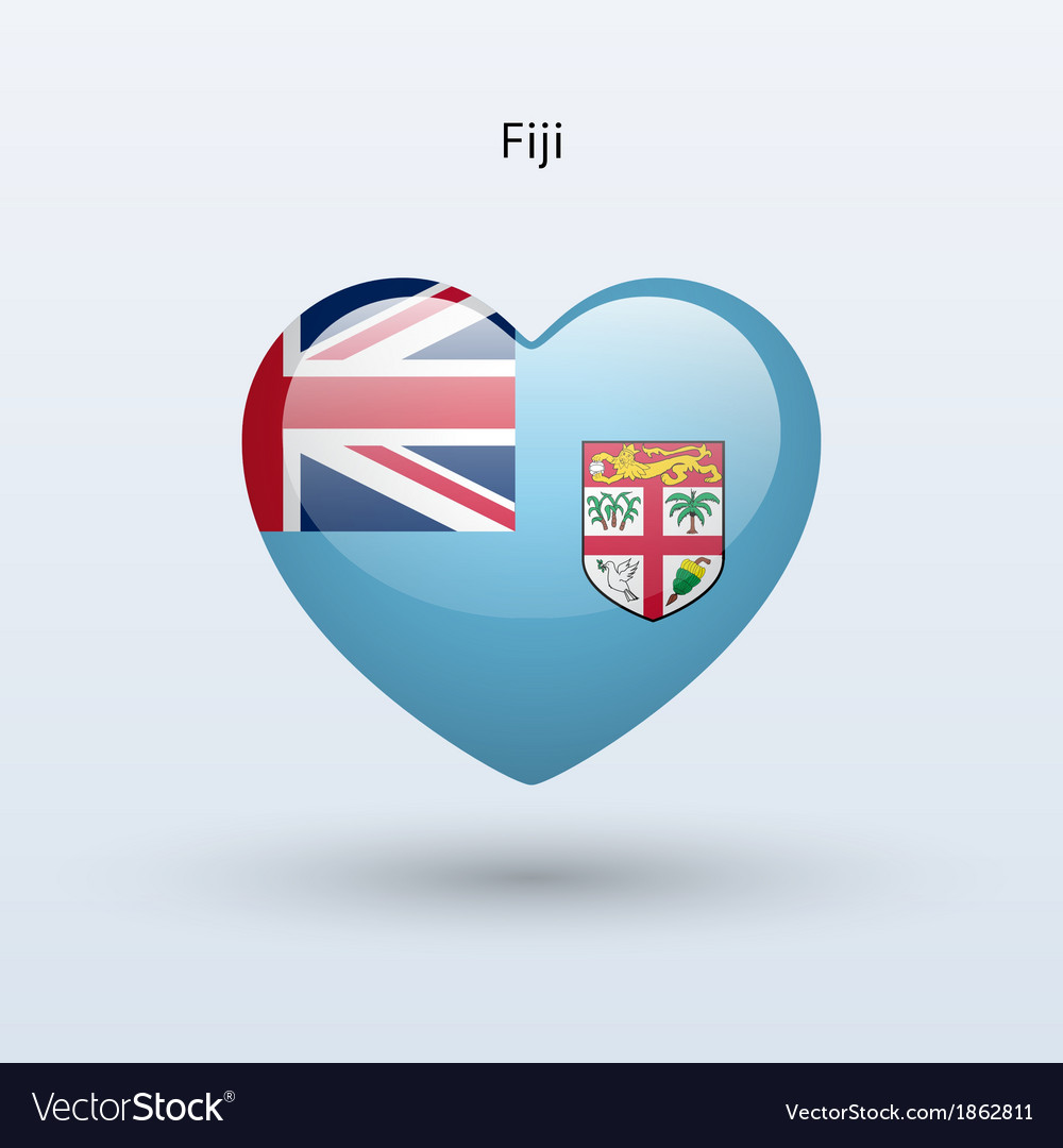 Love fiji symbol heart flag icon vector | Price: 1 Credit (USD $1)