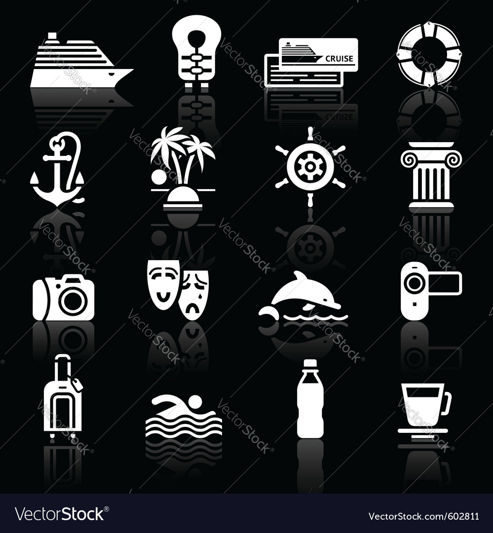 Recreation icons set vector | Price: 1 Credit (USD $1)