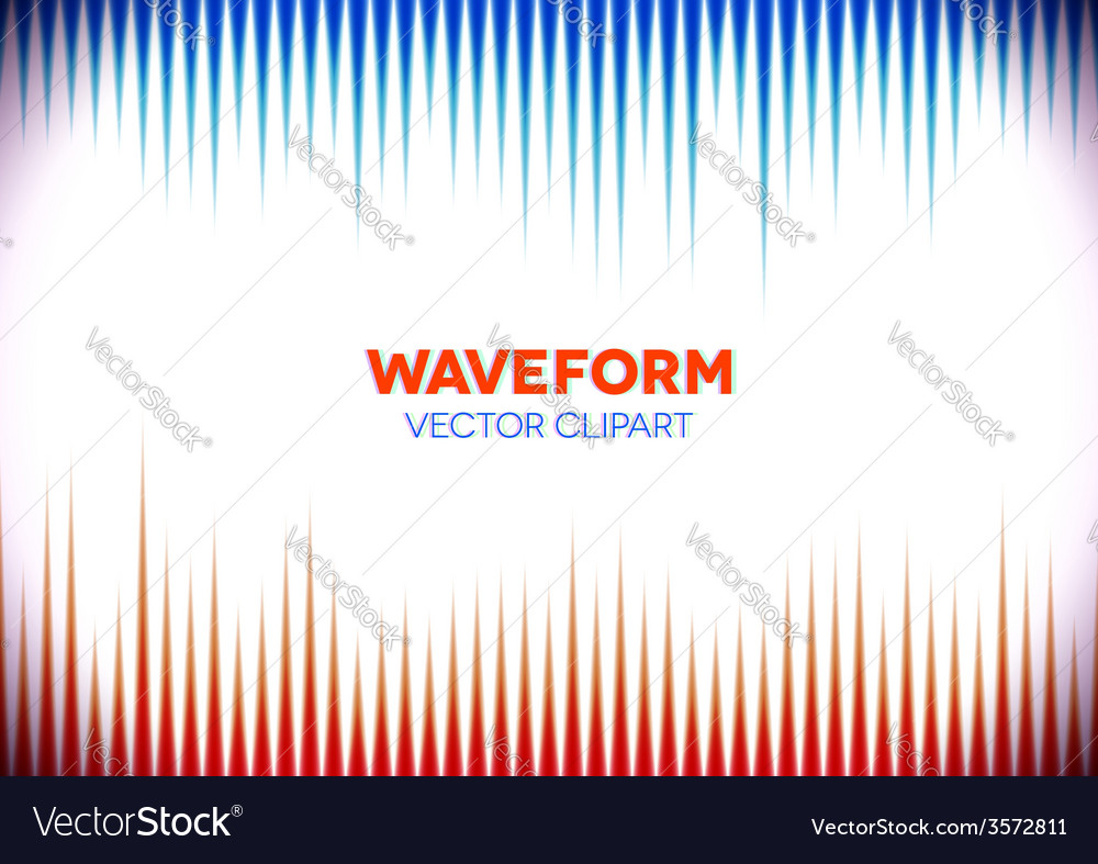 Retro styled background with sound waves vector | Price: 1 Credit (USD $1)