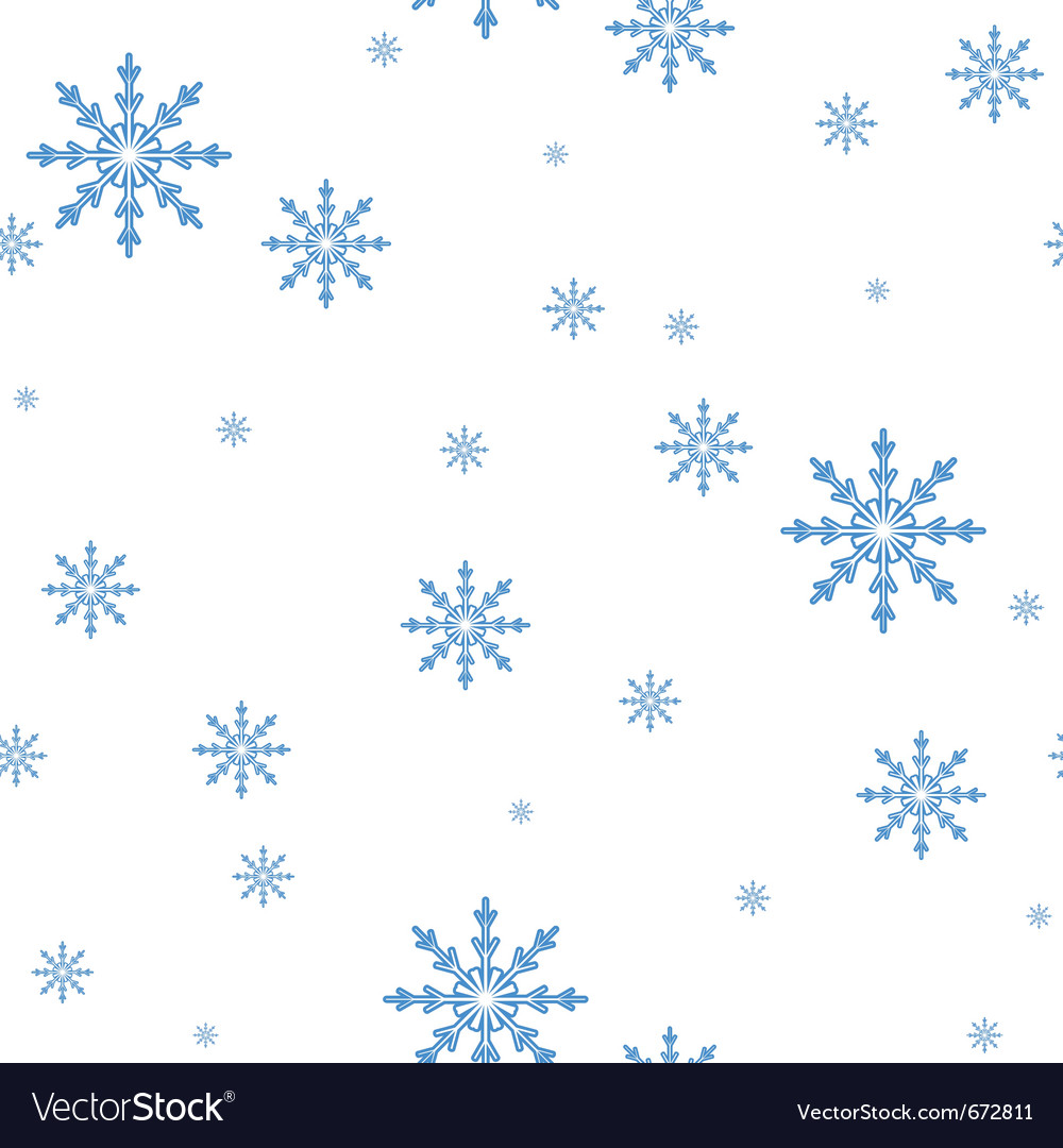 Seamless pattern of the snowflakes celebratory bac vector | Price: 1 Credit (USD $1)