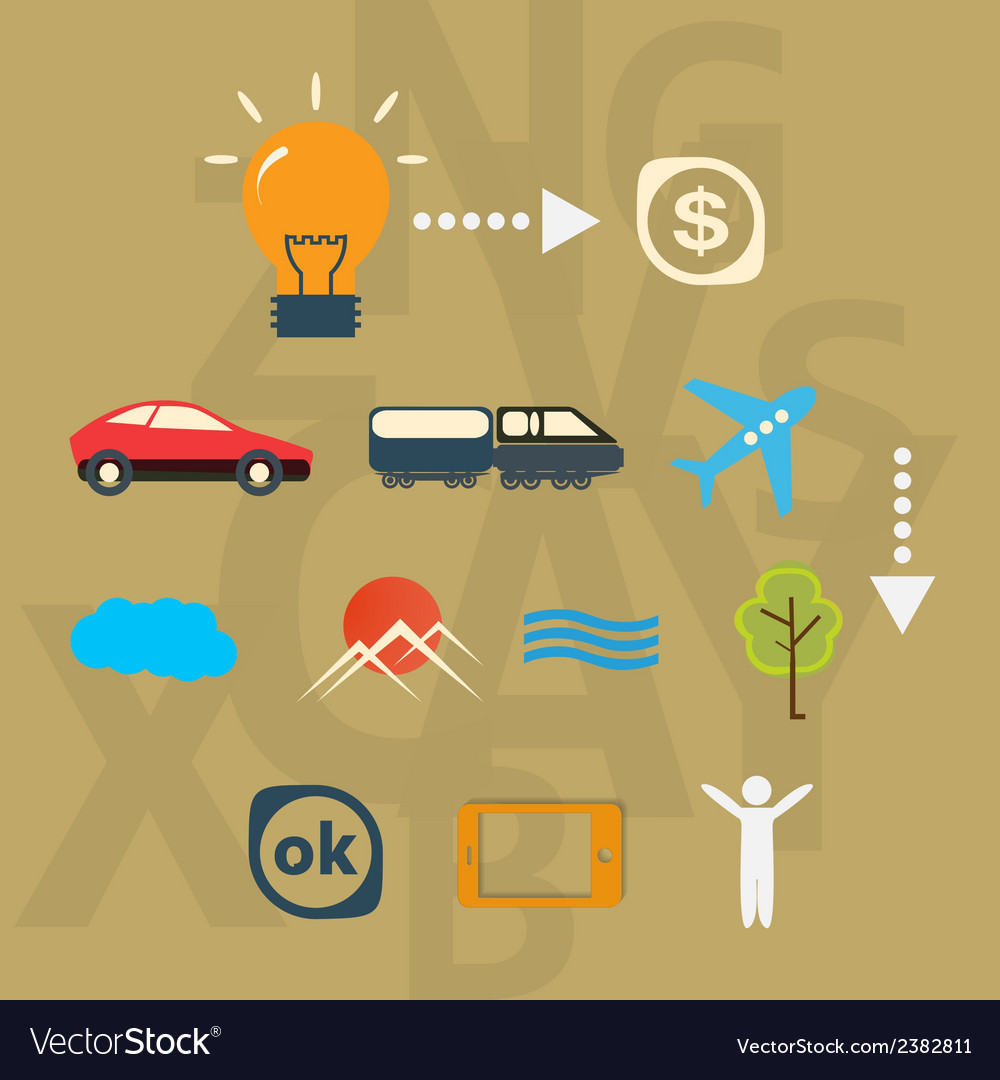 Set icons journey from idea to realization vector   Price: 1 Credit (USD $1)