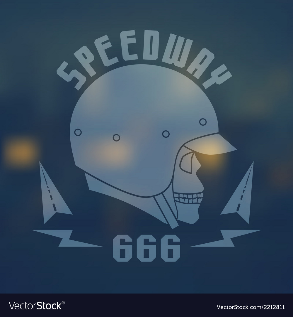 Speedwey 666 flat emblem vector | Price: 1 Credit (USD $1)