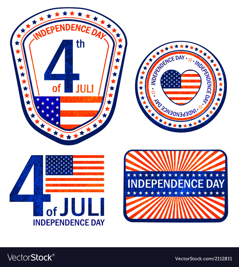 Stamps of independence day eps 10 vector | Price: 1 Credit (USD $1)