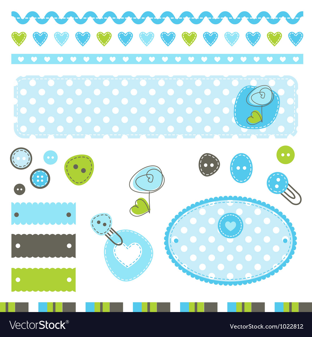 Baby shower design elements vector   Price: 1 Credit (USD $1)