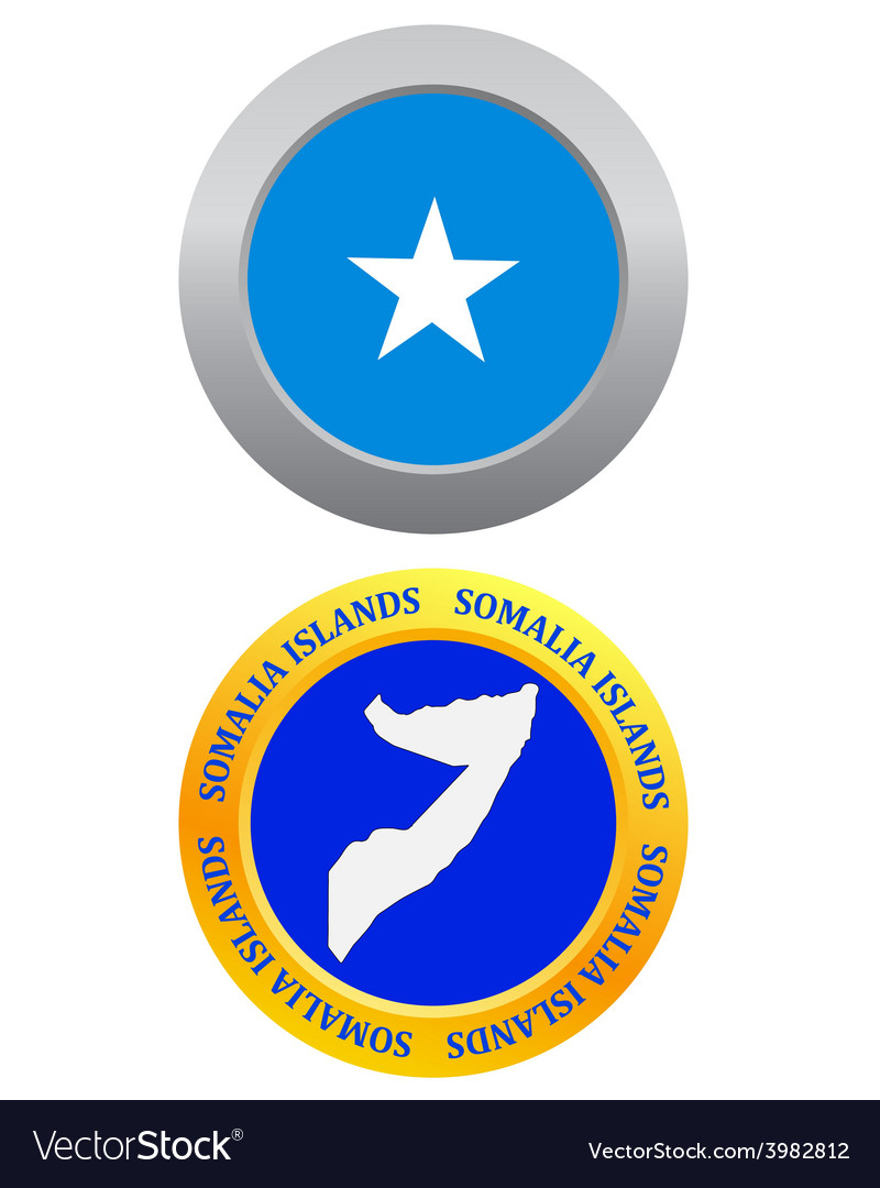 Button as a symbol somalia islands vector | Price: 1 Credit (USD $1)