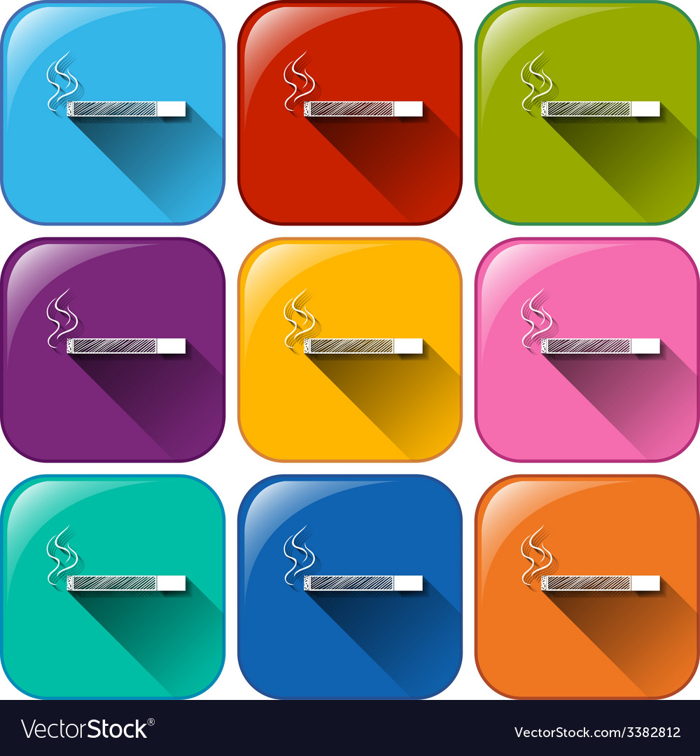 Cigarette buttons vector | Price: 1 Credit (USD $1)
