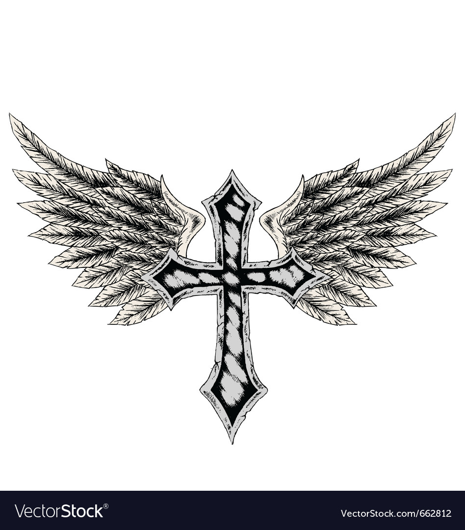 Cross wing emblem vector | Price: 1 Credit (USD $1)