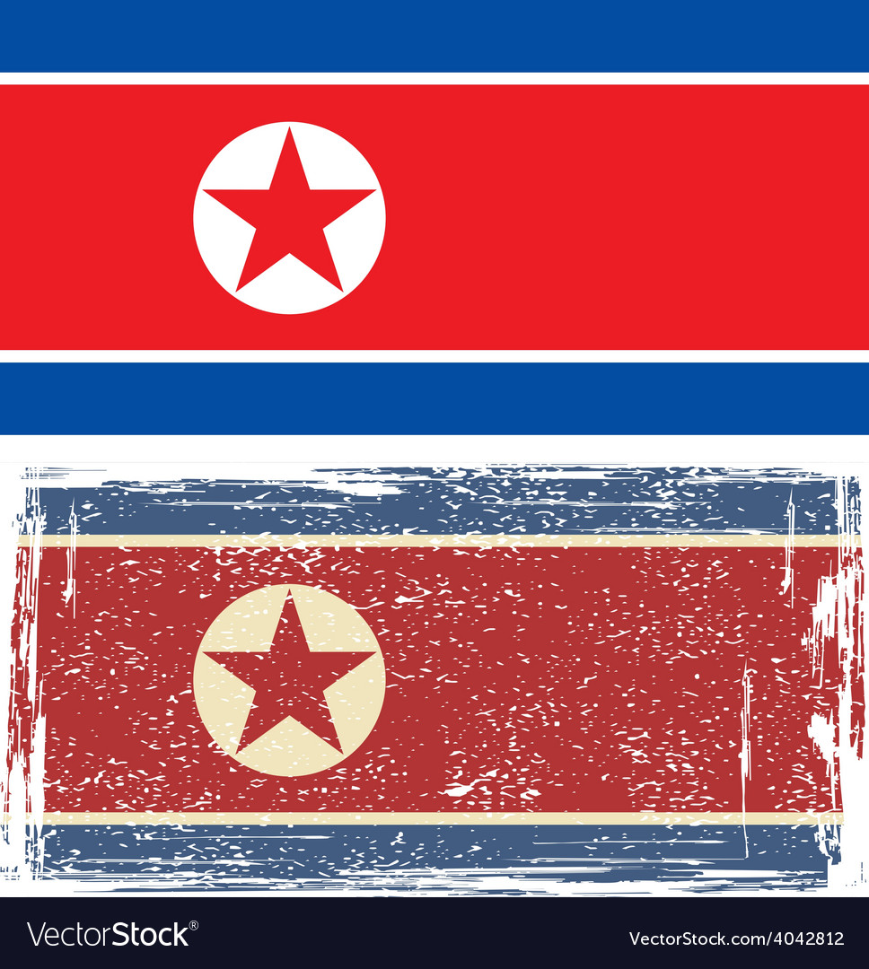 North korea grunge flag vector | Price: 1 Credit (USD $1)
