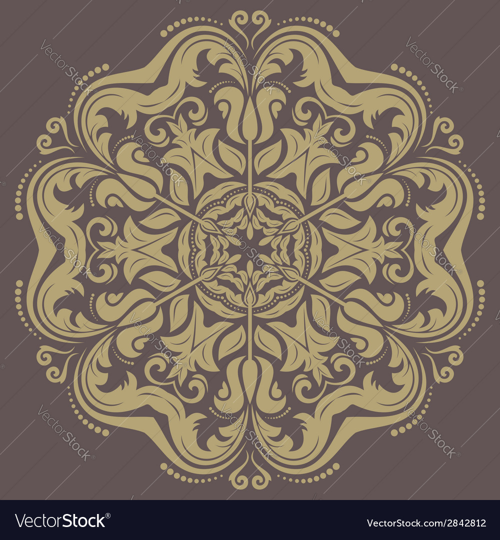 Orient ornamental round lace vector | Price: 1 Credit (USD $1)